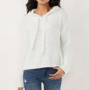 Lauren Conrad Fuzzy Eyelash Hooded Sweater